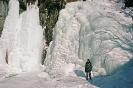 Водопад Корбу зимой