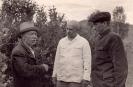 Рачкин Д., Саета В., Криницкий В. в саду,1961 г.
